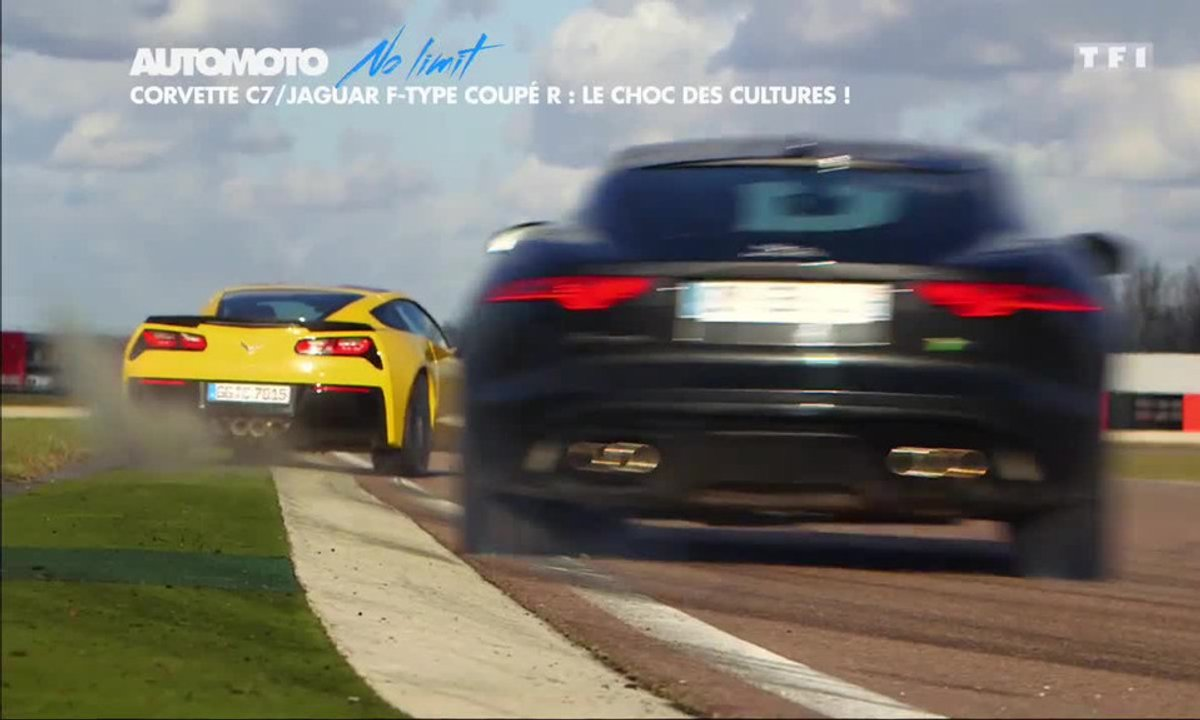 No Limit : Corvette Stingray vs Jaguar F-Type Coupé R, le choc des cultures !
