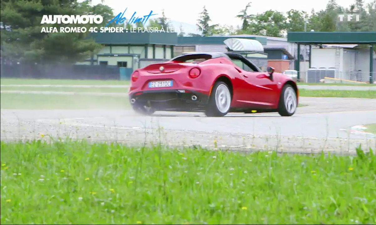 No Limit : L'Alfa Romeo 4C Spider sur circuit