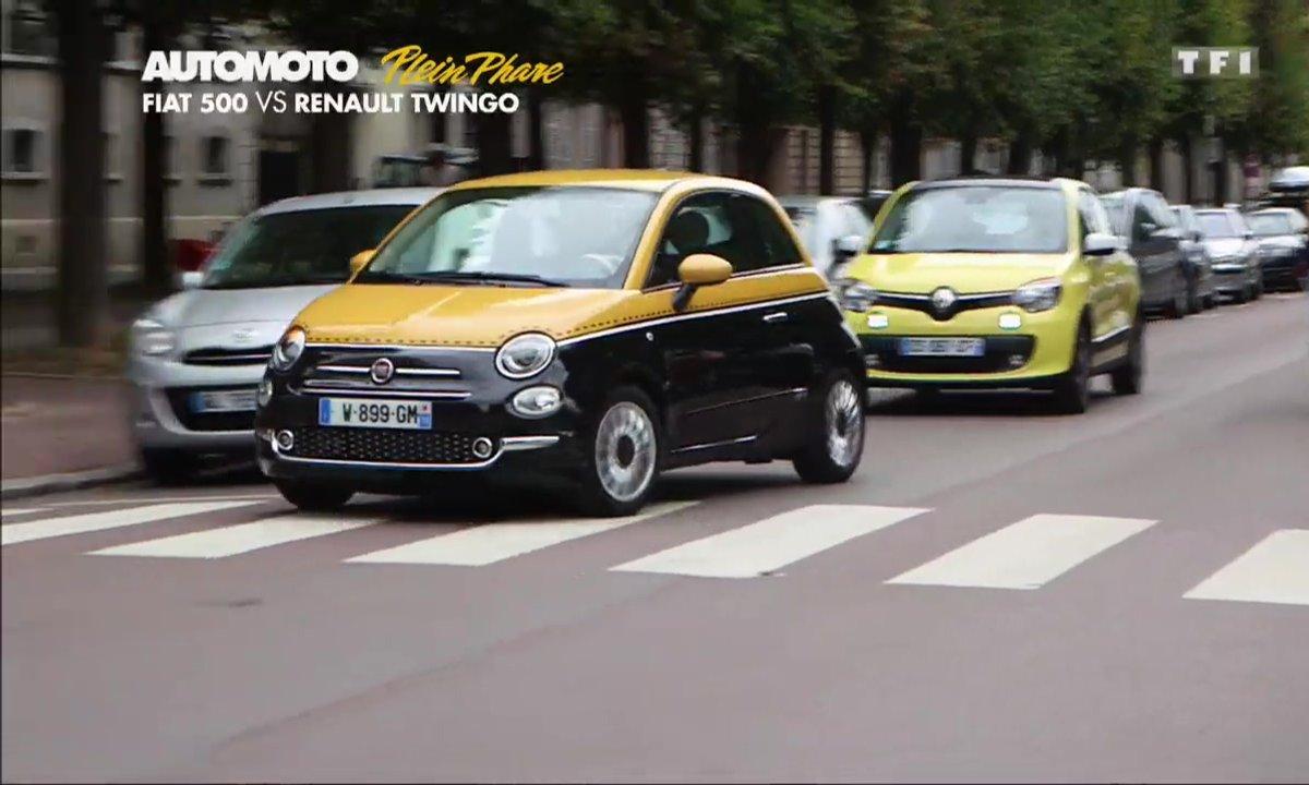 Plein Phare : Fiat 500 restylée vs Renault Twingo, duel de citadines
