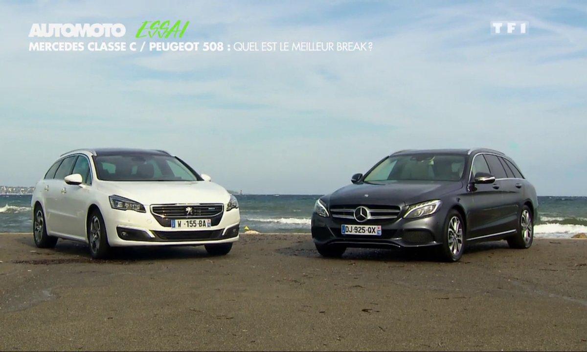 Peugeot 508 vs Mercedes Classe C : quel est le meilleur break ?