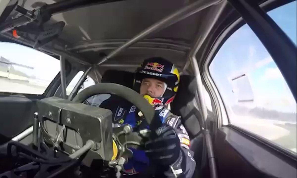 Sébastien Loeb essaye sa Peugeot 208 WRX