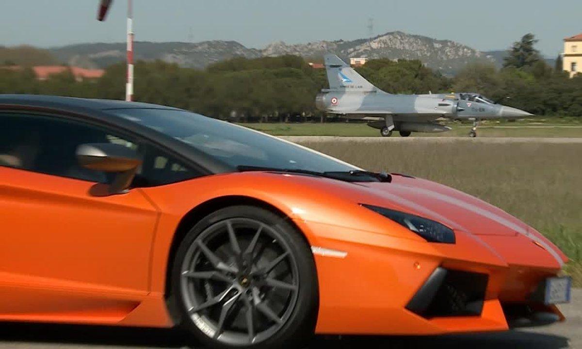 Teaser : Lamborghini Aventador face au Mirage 2000 dans Automoto