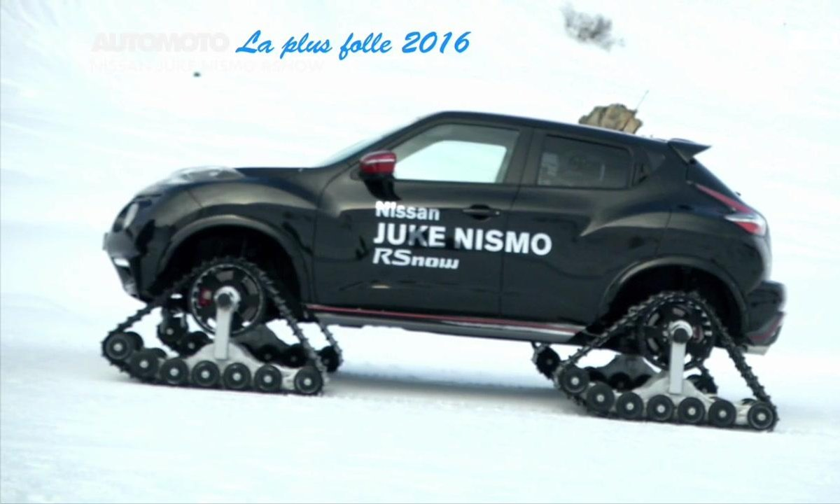La Voiture Folle de l'Année 2016 est la Nissan Juke Nismo RSnow