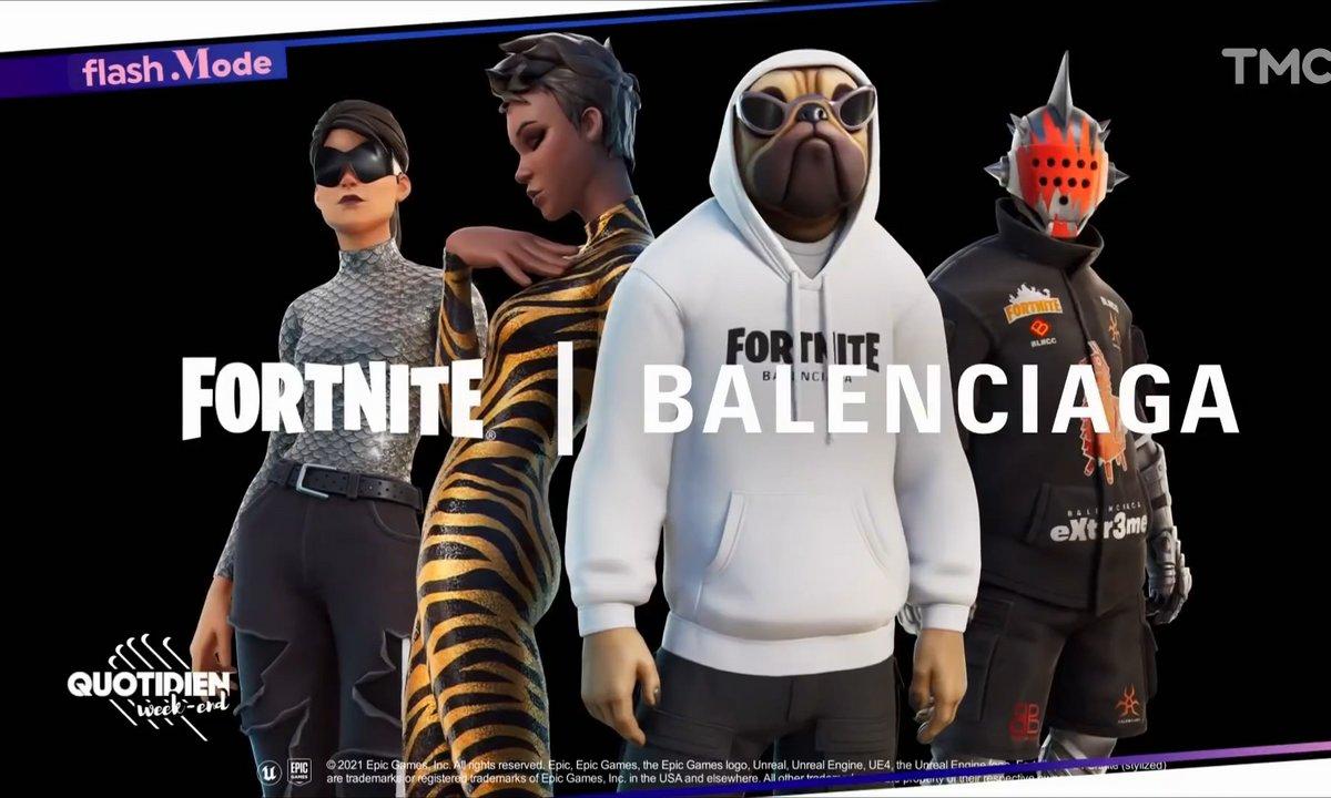 Balenciaga signe une collection avec Fortnite