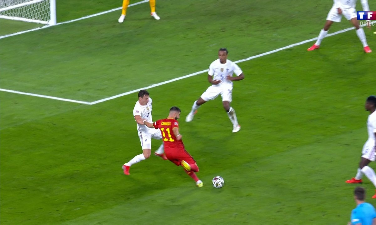 Belgique - France (1 - 0) - Le but de Yannick Carrasco