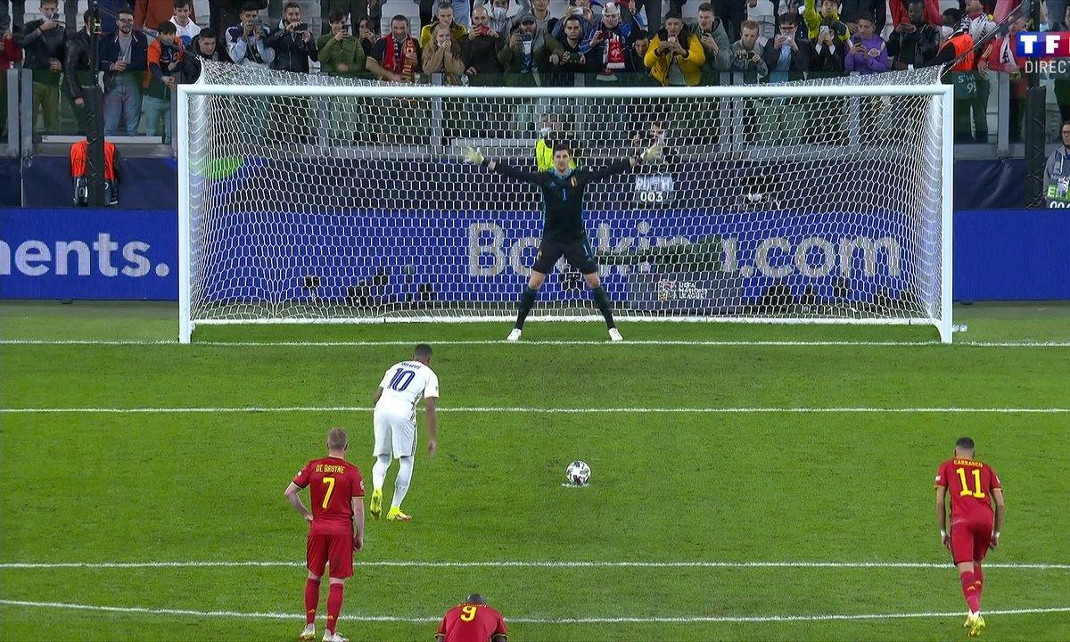 Belgique - France (2 - 2) - revoir le penalty de Kylian Mbappé