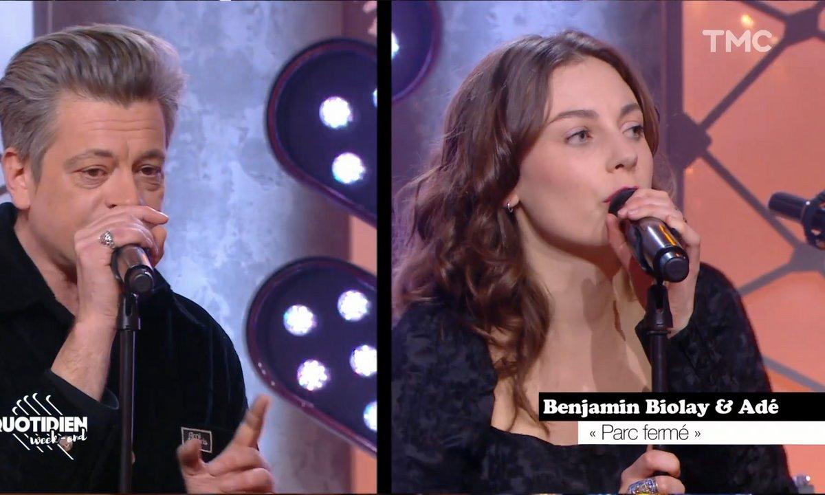 """Benjamin Biolay et Adé: """"Parc fermé"""" en live pour Quotidien"""