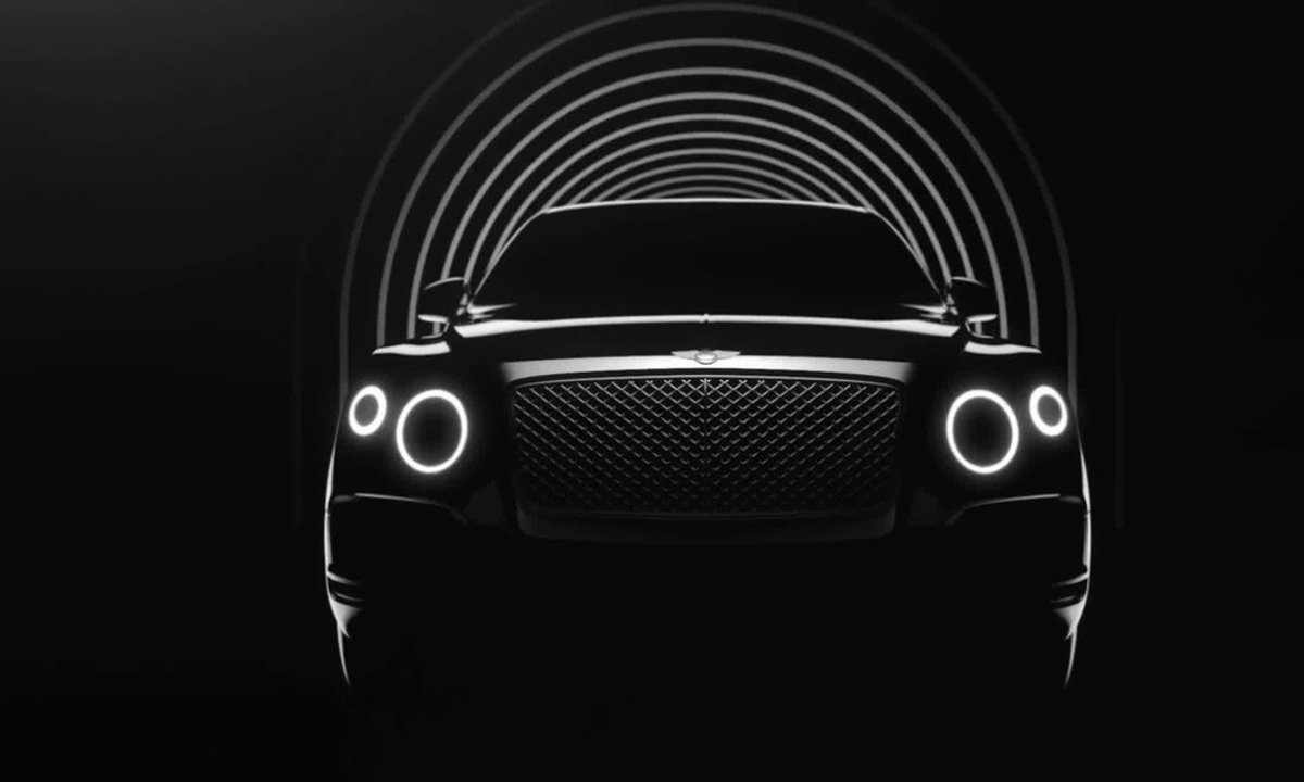 Bentley SUV 2016 : premier teaser officiel