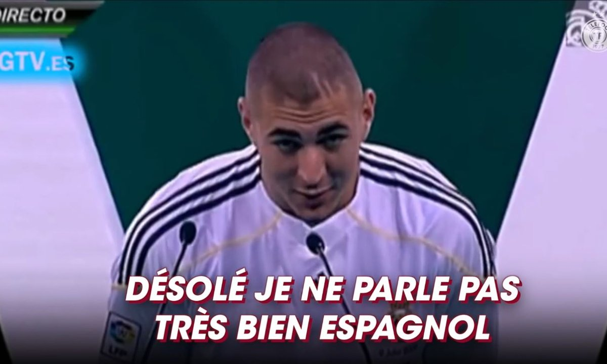 Il y a 11 ans Benzema signait au Real Madrid : sa première prise de parole en espagnol