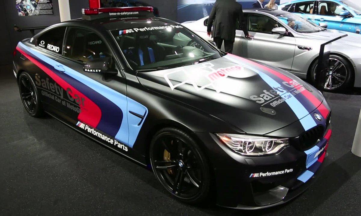 BMW M4, la voiture de sécurité du MotoGP au Salon de Genève 2015