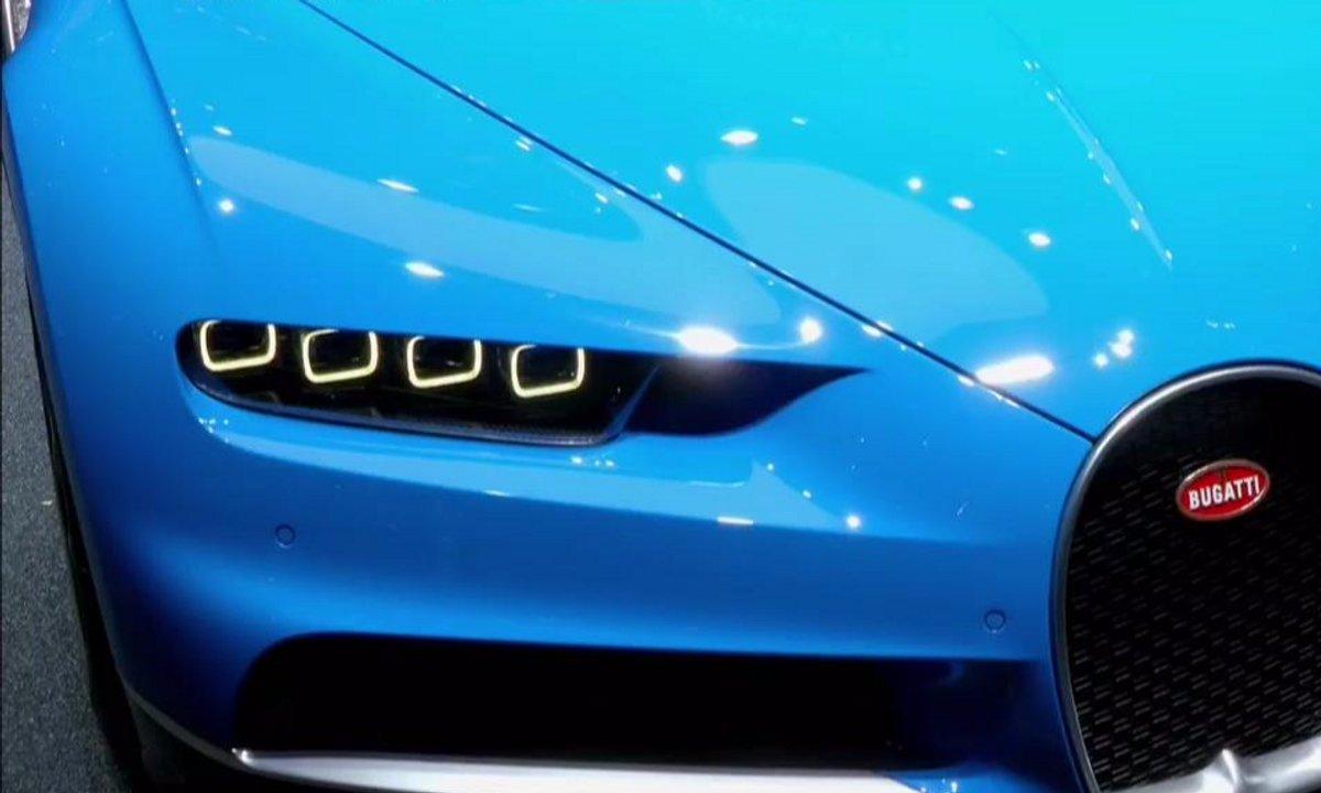 Présentation de la Bugatti Chiron au Salon de Genève 2016