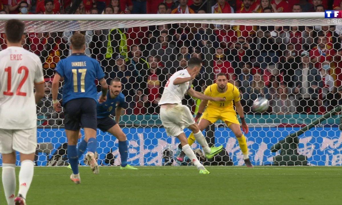 Italie - Espagne (0 - 0) : Voir l'occasion de Sergio Busquets en vidéo