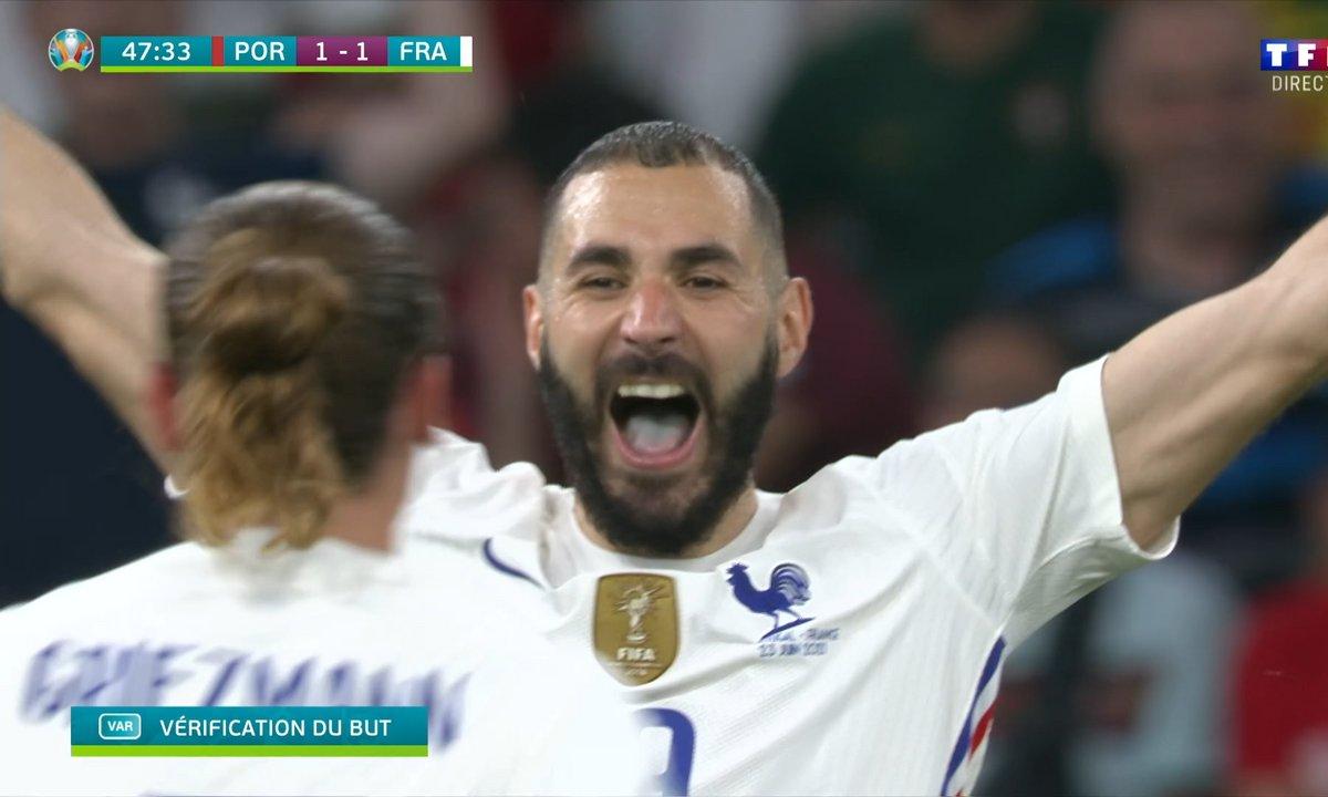 Portugal - France (1 - 2) : Voir le deuxième but de Benzema en vidéo