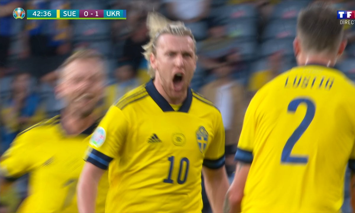 Suède - Ukraine (1 - 1) : Voir le but de Forsberg en vidéo