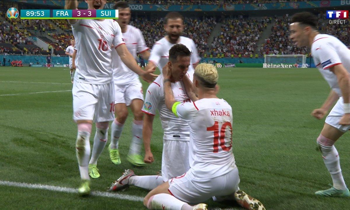 France - Suisse (3 - 3) : Voir le but de Gavranovic en vidéo