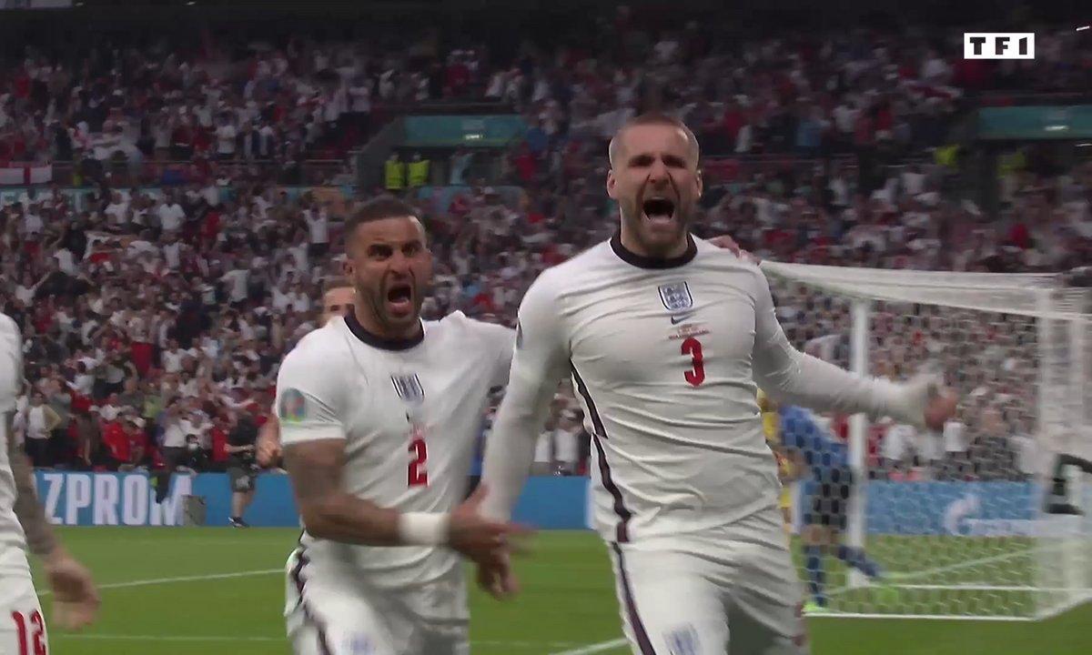 Italie - Angleterre (0 - 1) : Voir le but de Shaw en vidéo