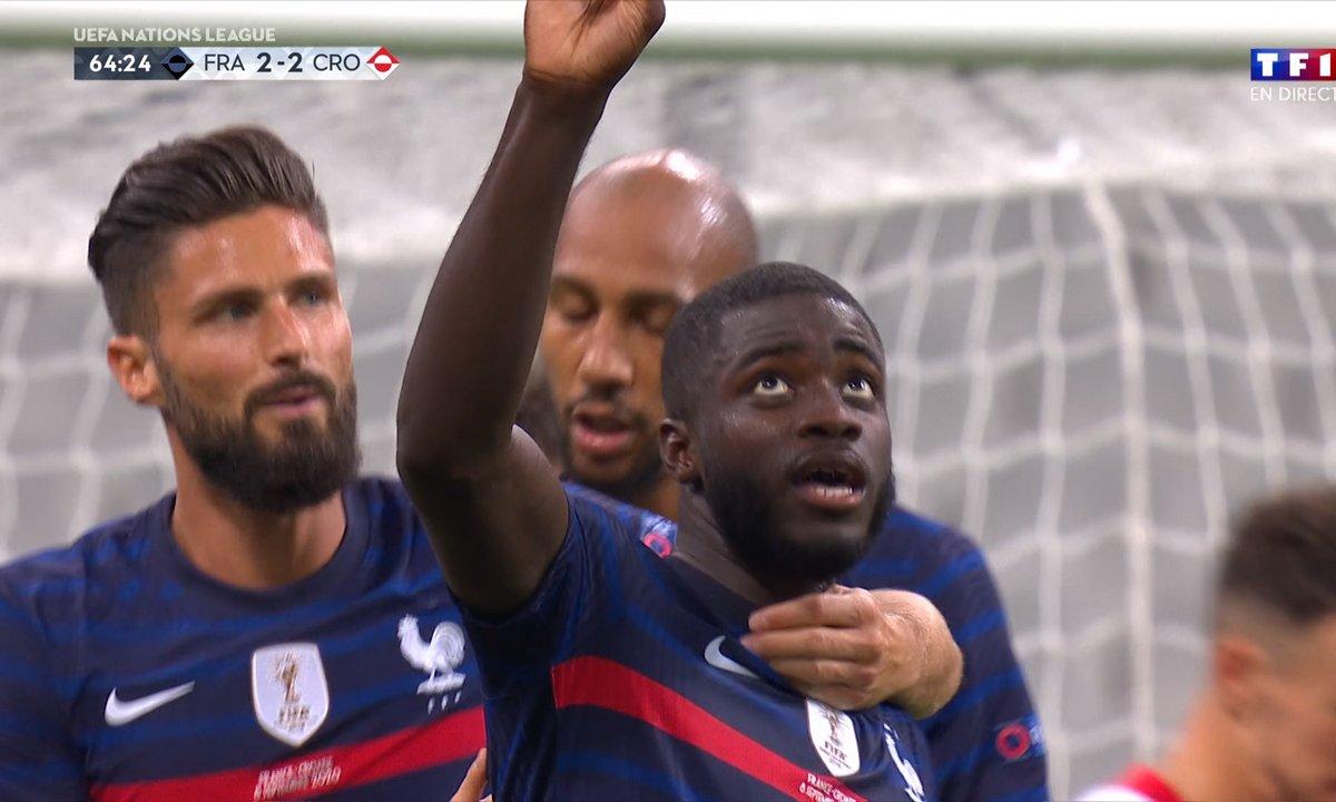 France - Croatie (3 - 2) : Voir le but de Upamecano en vidéo