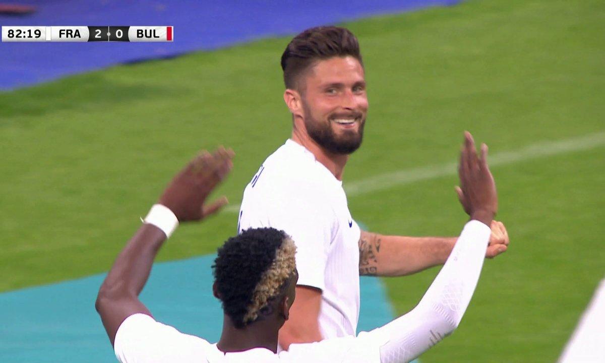 France - Bulgarie (2 - 0) : Voir le but de Giroud en vidéo