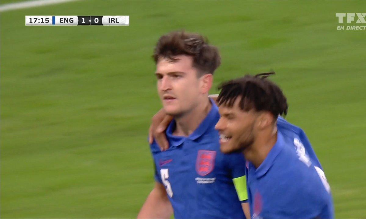 Angleterre - Irlande (1 - 0) : Voir le but de Maguire en vidéo