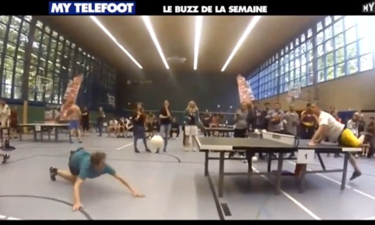 MyTELEFOOT - Le Buzz de la Semaine : le tennis de table... ballon !