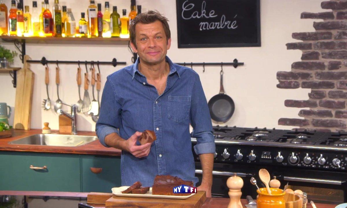 Cake marbré chocolat-framboises