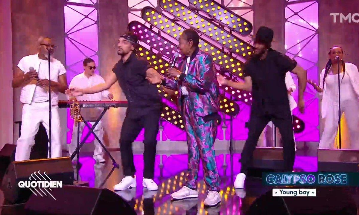 """Calypso Rose : """"Young Boy"""" en live pour Quotidien"""