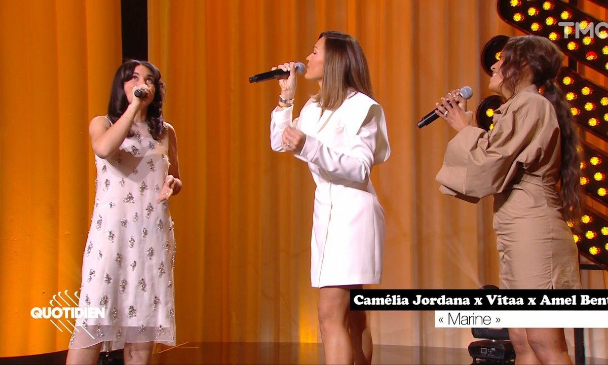 """Camelia Jordana, Vitaa et Amel Bent : """"Marine"""" en live pour Quotidien"""