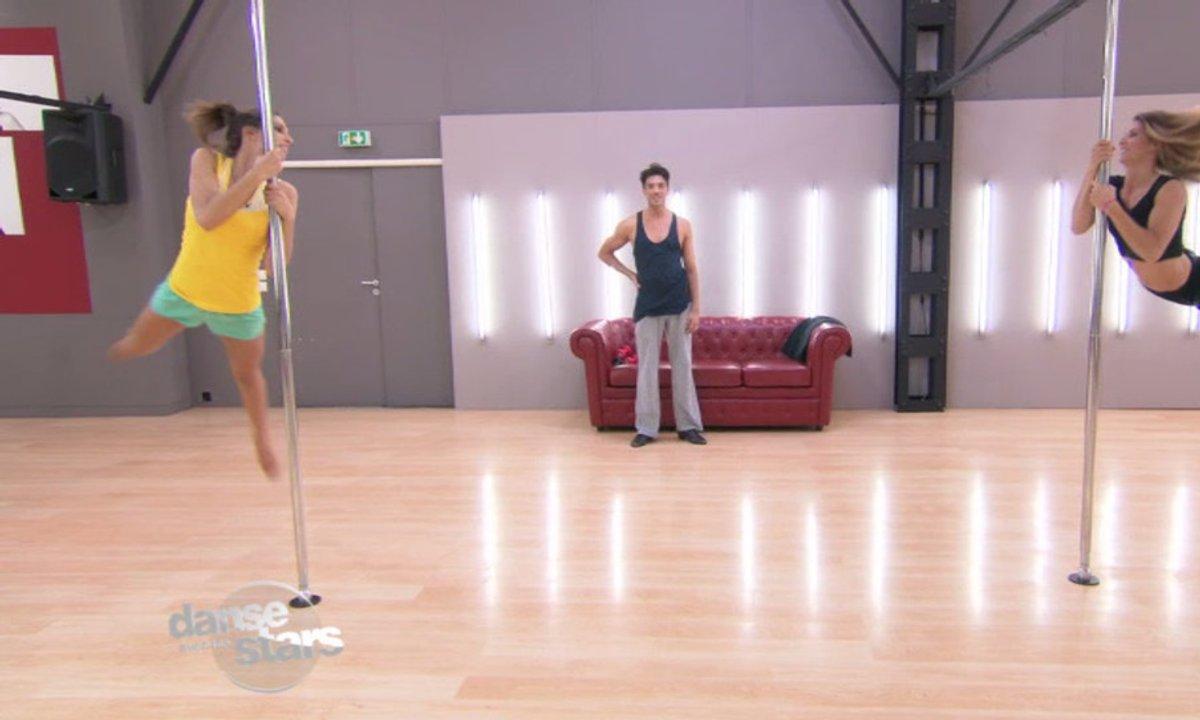 #DALS Répétitions : Laury Thilleman se met au pole dance !