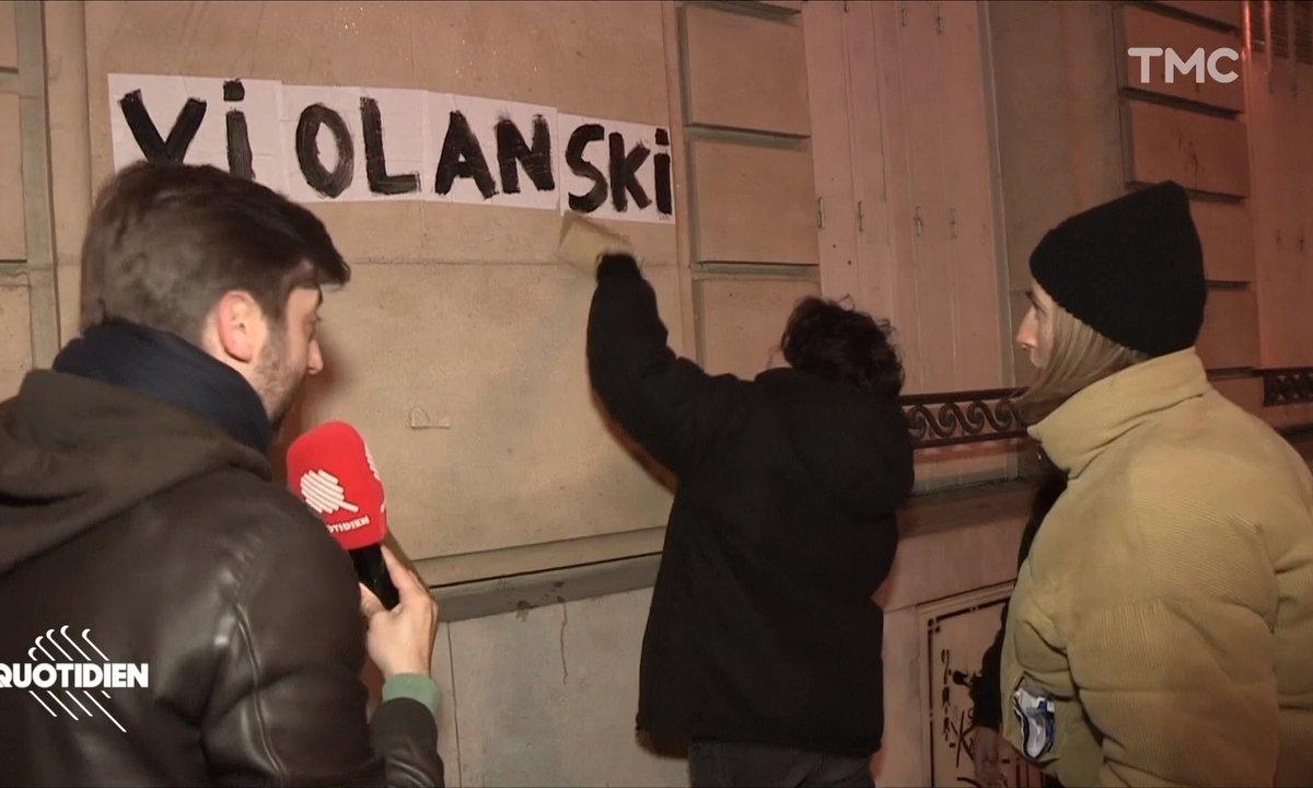 César : les colleuses féministes mobilisées contre Roman Polanski