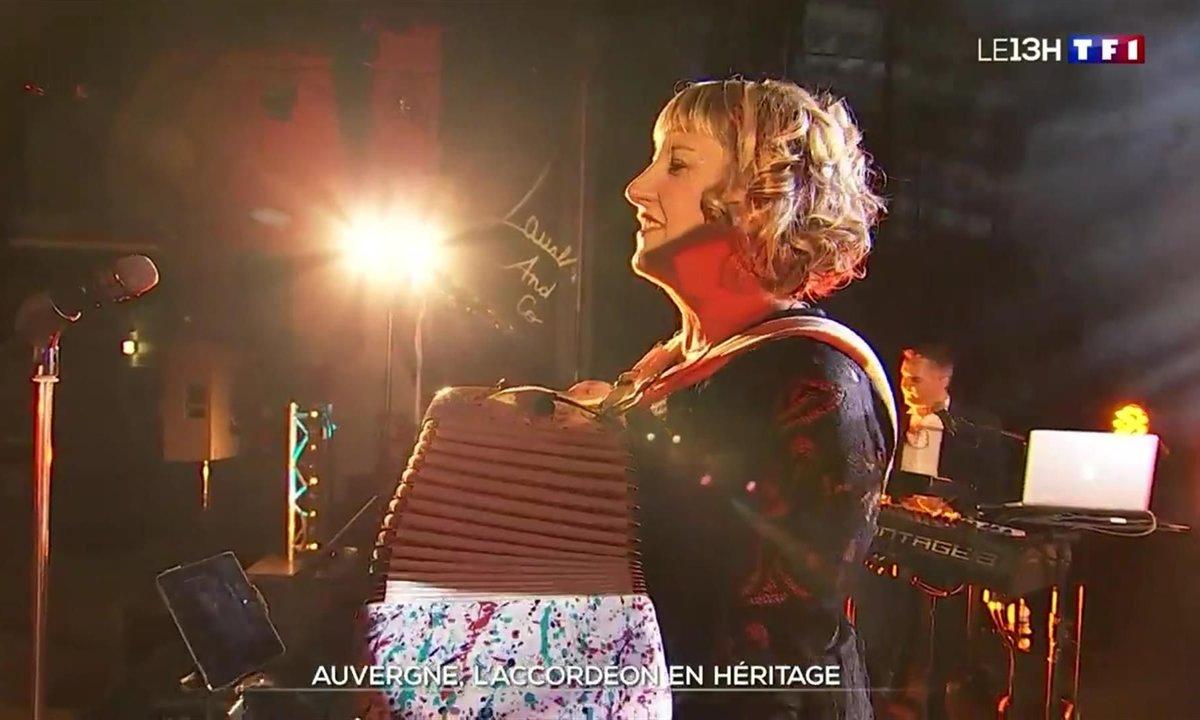 Cette accordéoniste auvergnate fait vibrer sa région