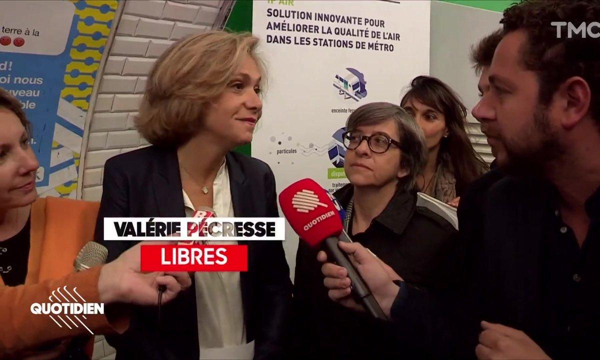 """Chaouch Express : pour sa première sortie en femme """"libre"""", Valérie Pécresse choisi... le métro"""