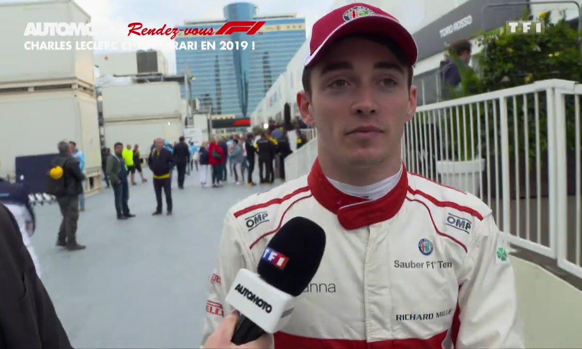 Rendez vous F1 - Charles Leclerc débarque chez Ferrari en 2019 !
