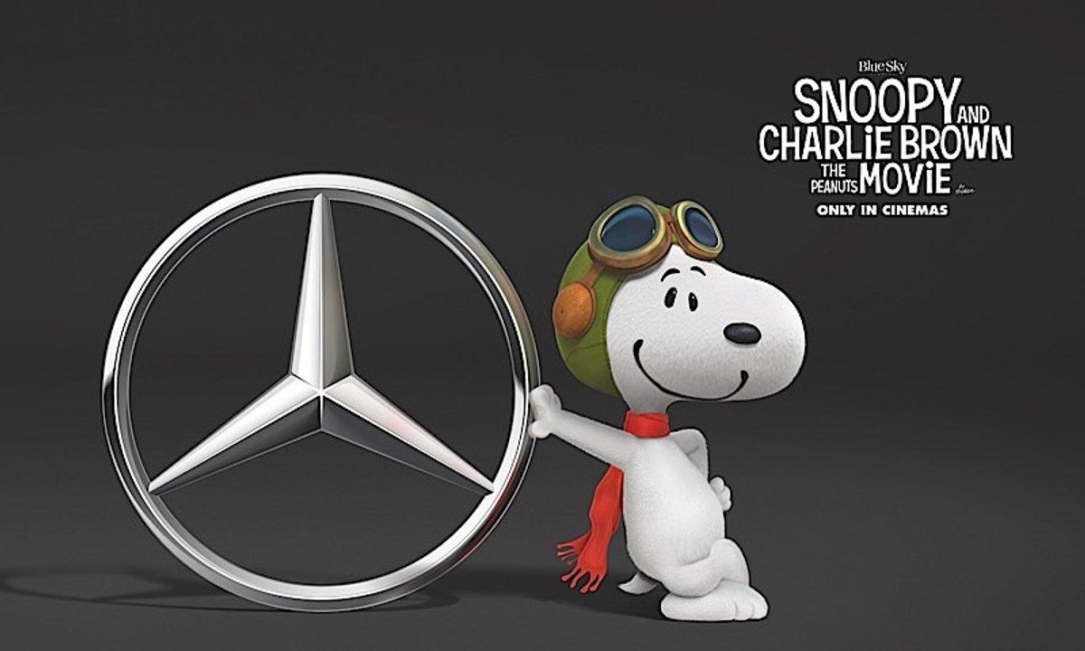 Snoopy roule en Mercedes Classe V