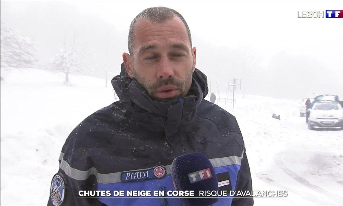 Chutes de neige en Corse : risque d'avalanches