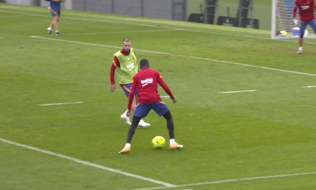 VIDEO - Griezmann et Dembélé régalent à l'entraînement