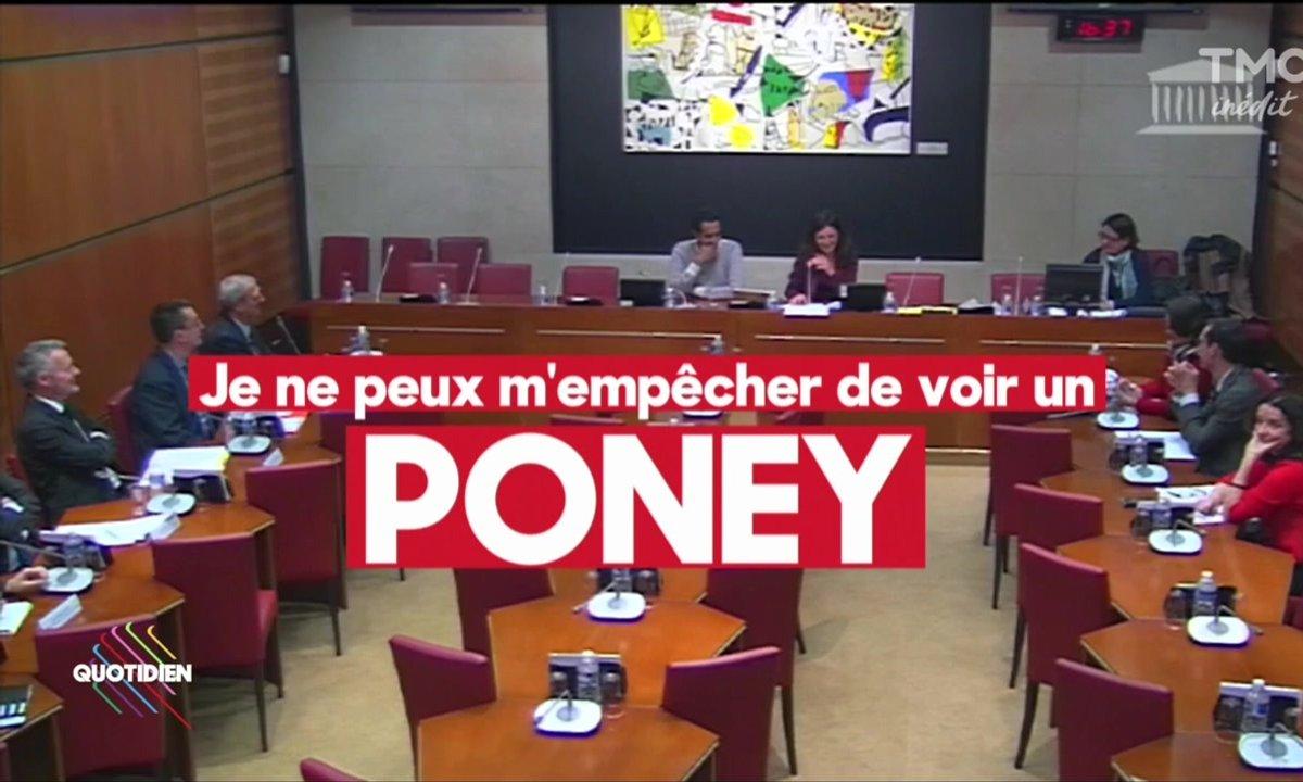 Le clin d'oeil d'Etienne : l'aquaponie (poney ?) vaut un fou rire à Coralie Dubost