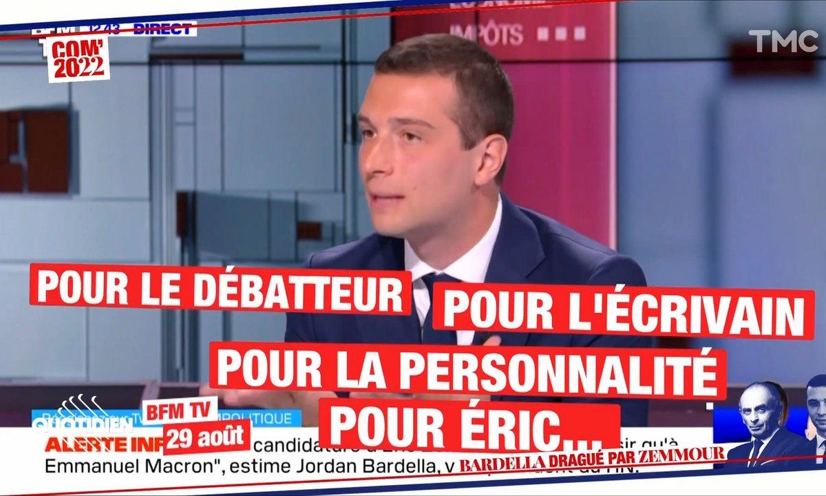 Com' 2022 : Jordan Bardella peut-il rejoindre Éric Zemmour ?