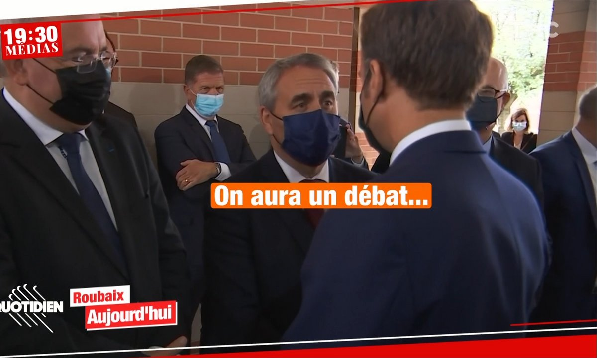 19h30 Médias : échange glacial entre Emmanuel Macron et Xavier Bertrand.