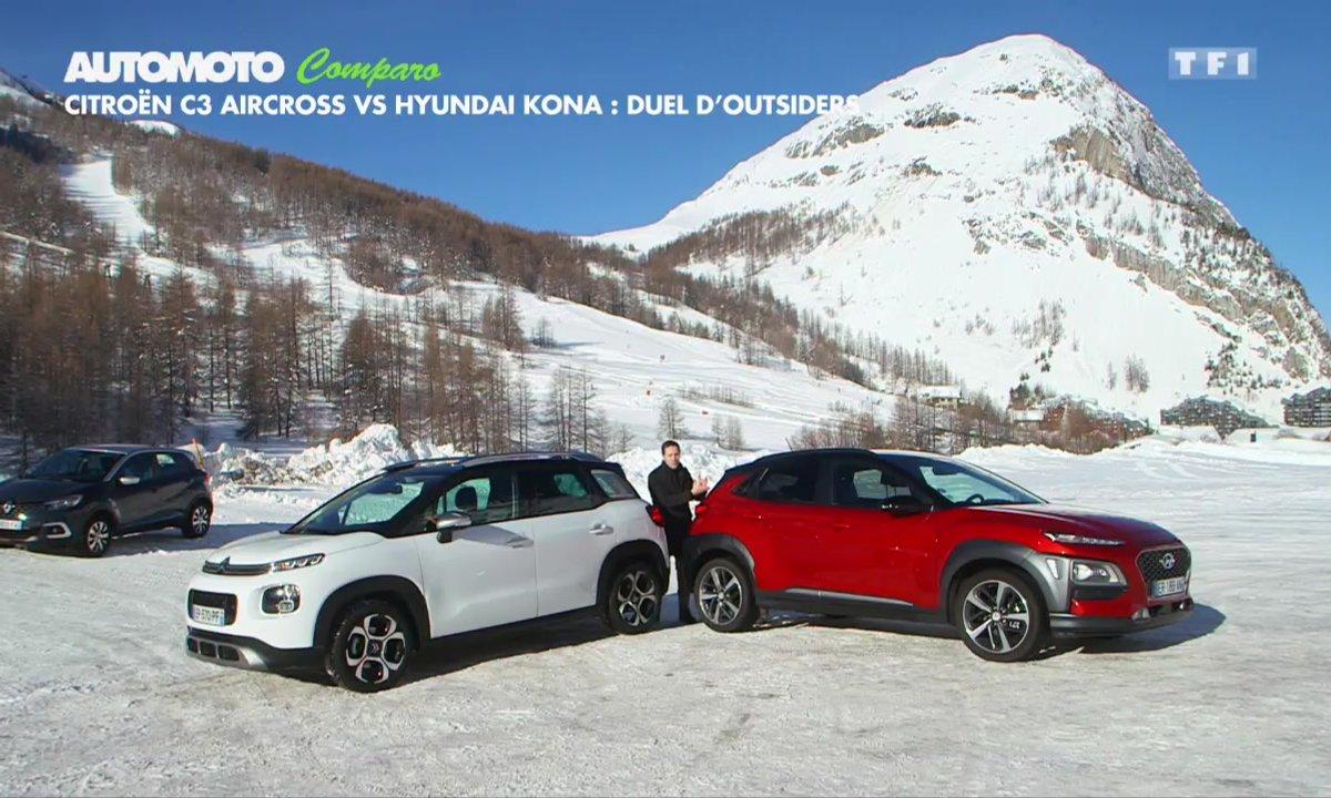 Comparo : Citroën C3 Aircross vs Hyundai Kona, duel d'outsiders