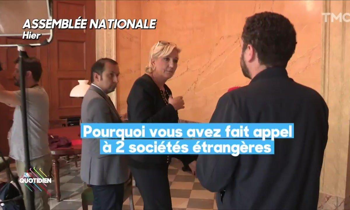 """Comptes de campagne : Marine Le Pen pas très """"made in France"""""""