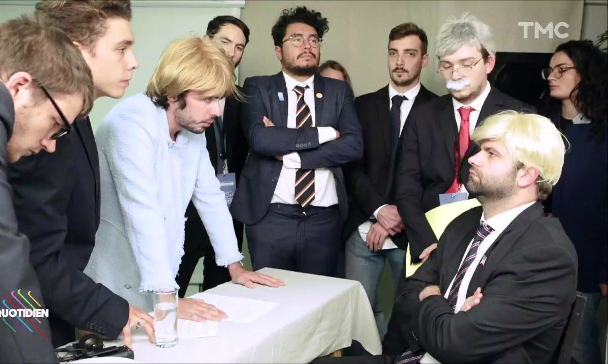 """Les """"dessous"""" de la photo de Trump et Merkel au G7 (Eric et Quentin)"""
