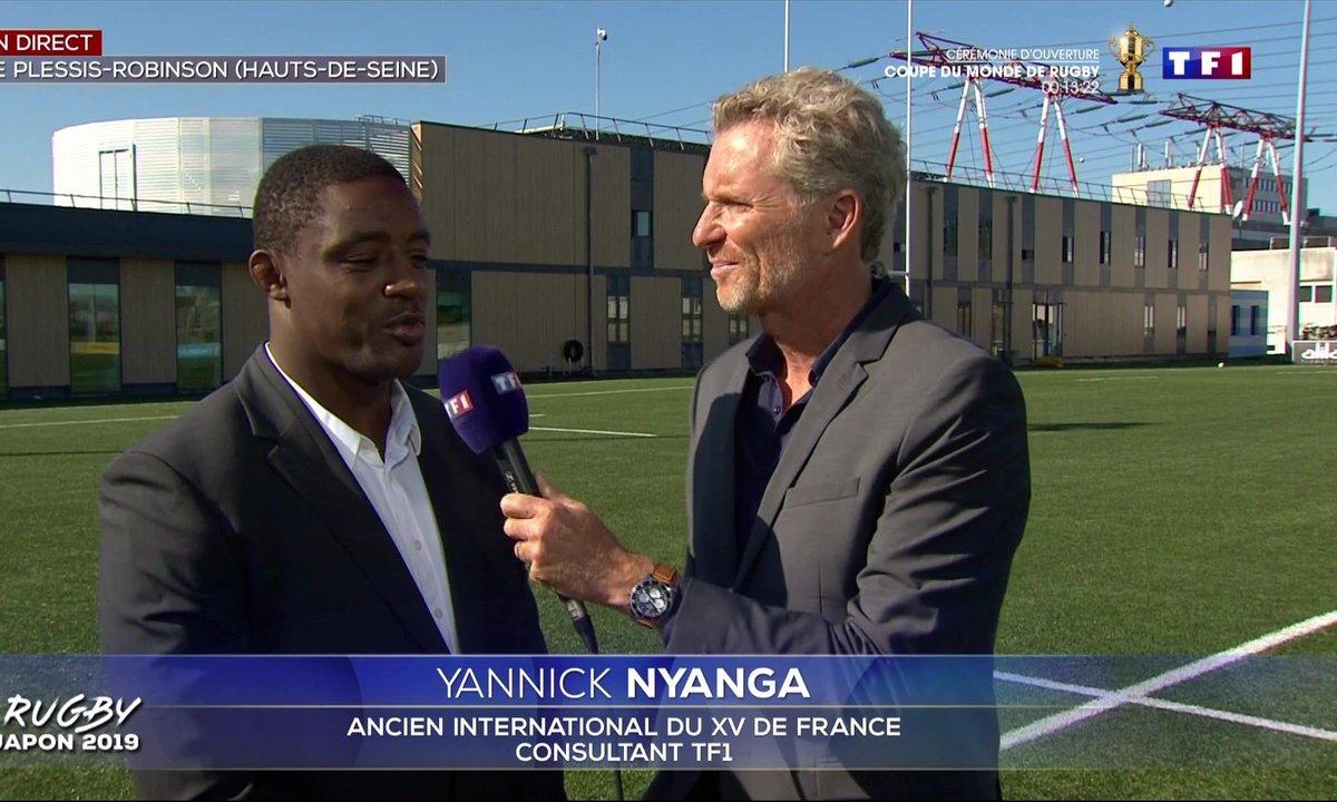 """Coupe du monde de rugby 2019 au Japon : """"On peut être optimiste"""", Yannick Nyanga"""
