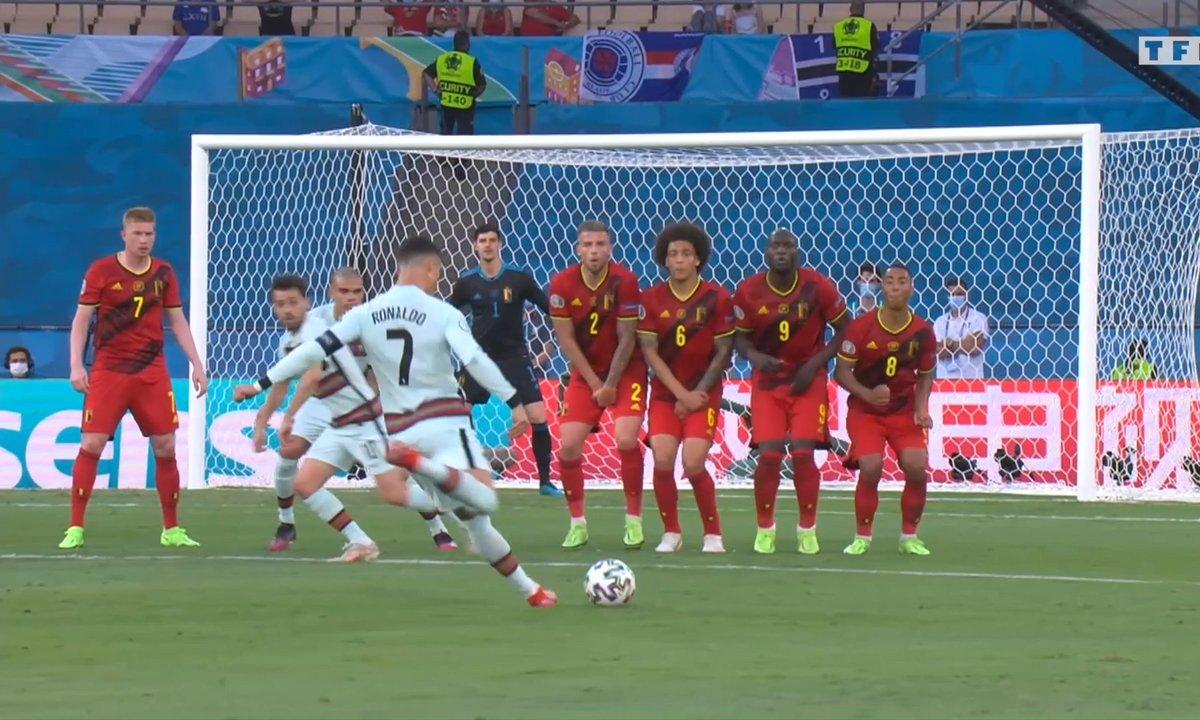 Belgique - Portugal (0 - 0) : Voir le coup-franc surpuissant de Cristiano Ronaldo en vidéo