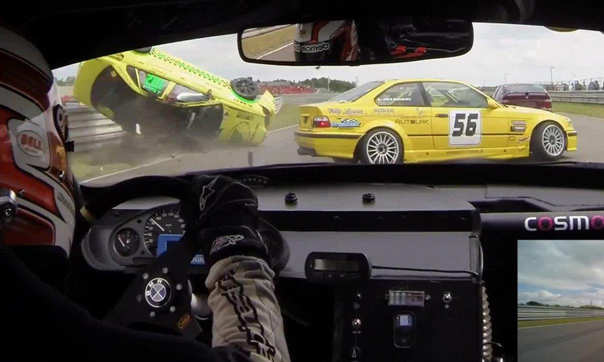 Insolite : une Volvo en crash et tonneaux après 5 secondes de course
