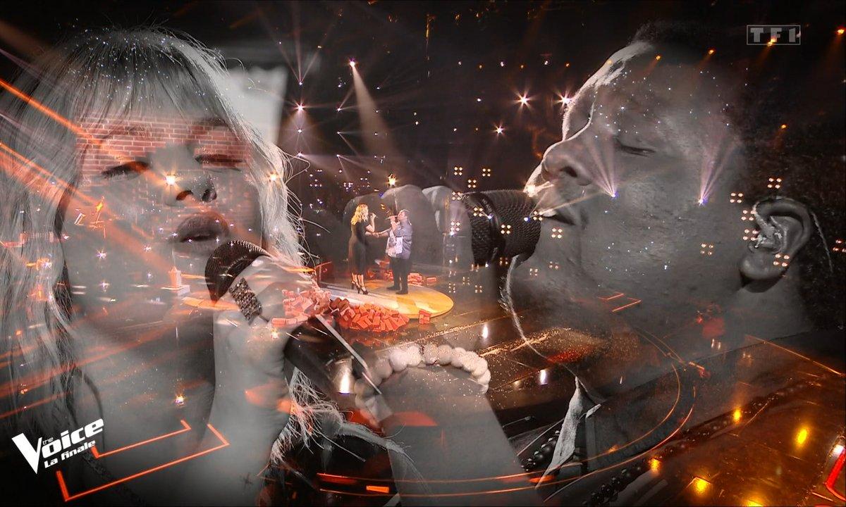 """The Voice 2021 – Cyprien et Louane chantent """"Si t'étais là"""" (Finale)"""
