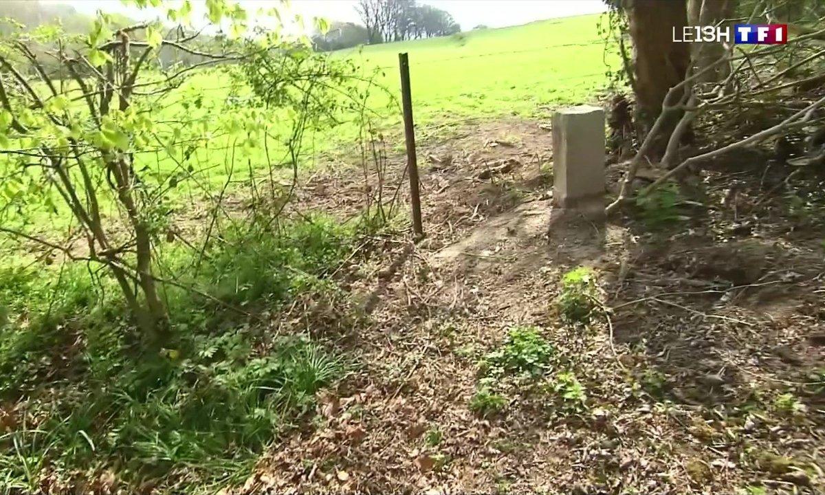 Dans le Nord, la borne qui marque la frontière avec la Belgique déplacée de deux mètres