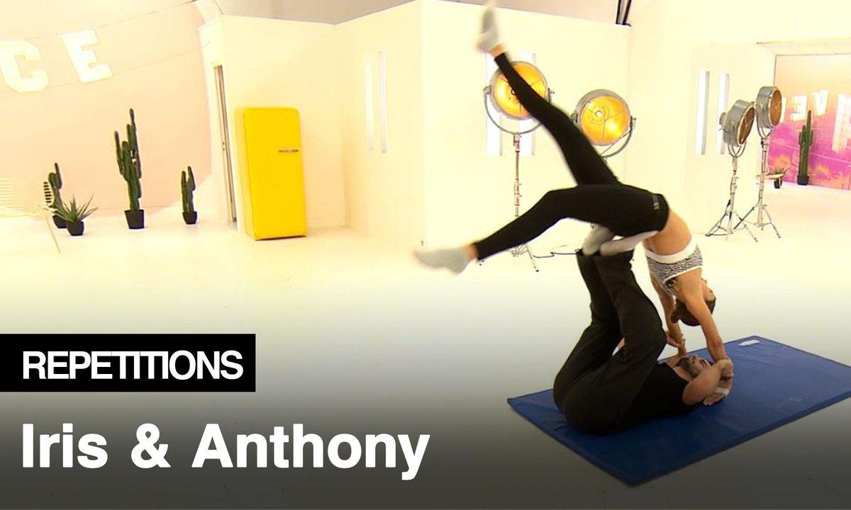 Répétitions - Iris Mittenaere et Anthony Colette en curieuse posture