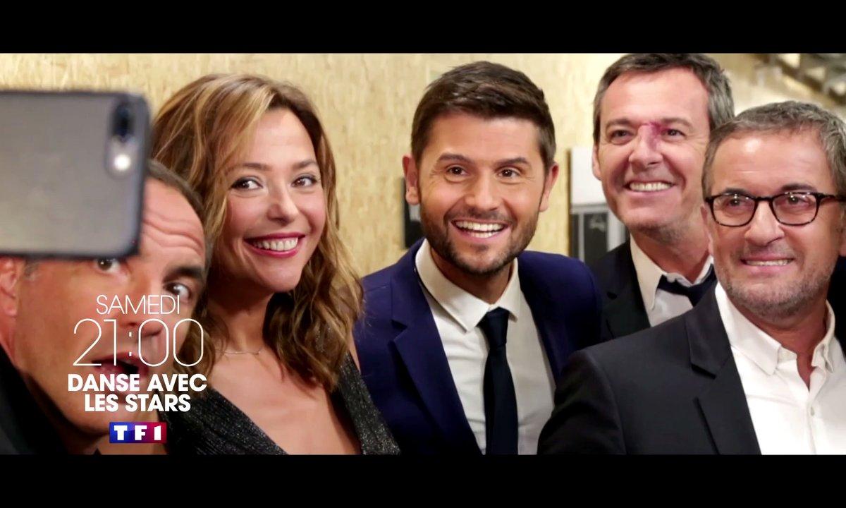 Sandrine Quétier entourée de la famille des animateurs de TF1