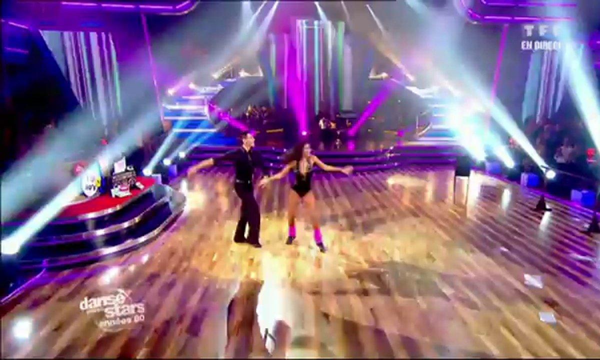 Shy'm et Maxime Dereymez dansent un jive sur Maniac (Michael Sembello)