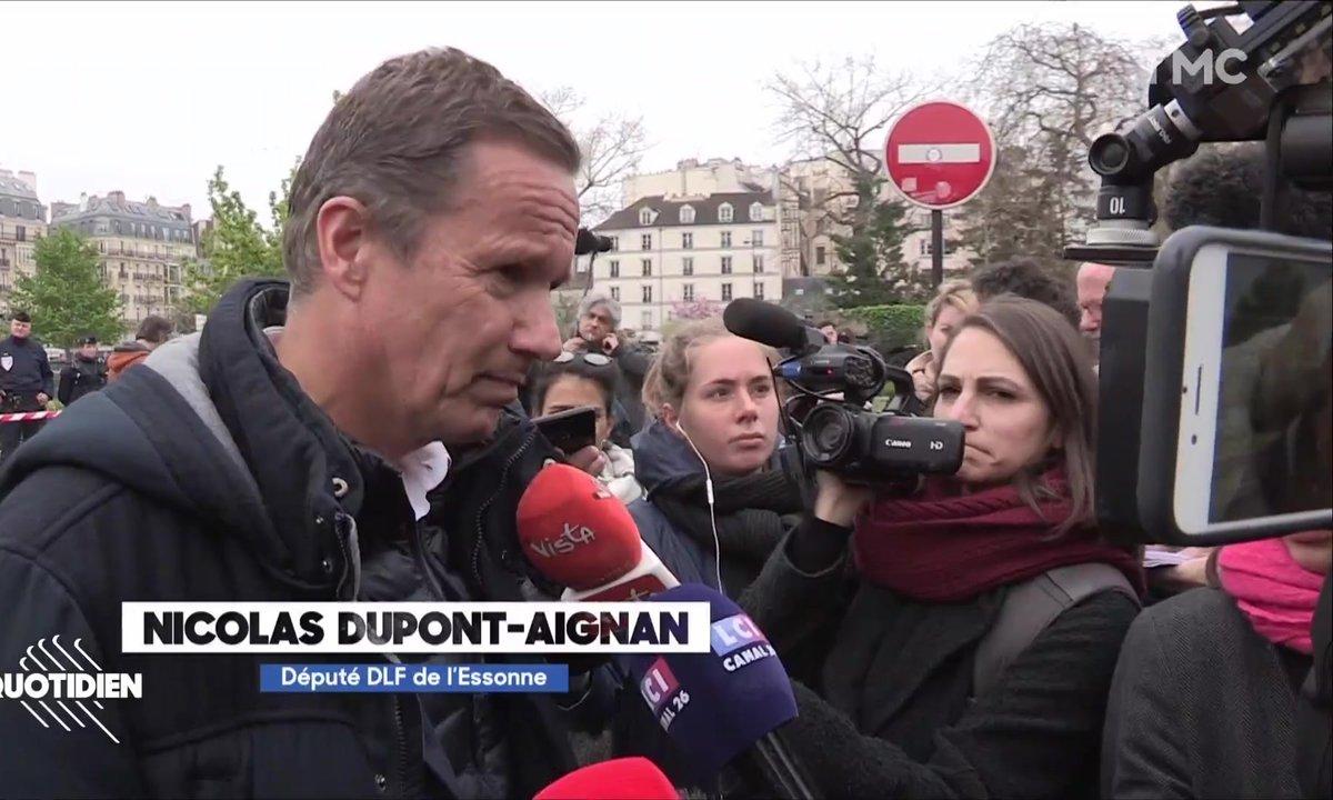 Le défilé des politiques au chevet de Notre-Dame de Paris
